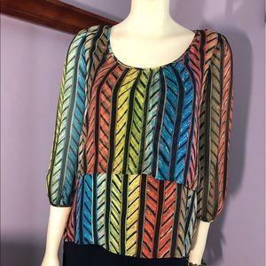 Cluny 2-Tiered Silk Shirt